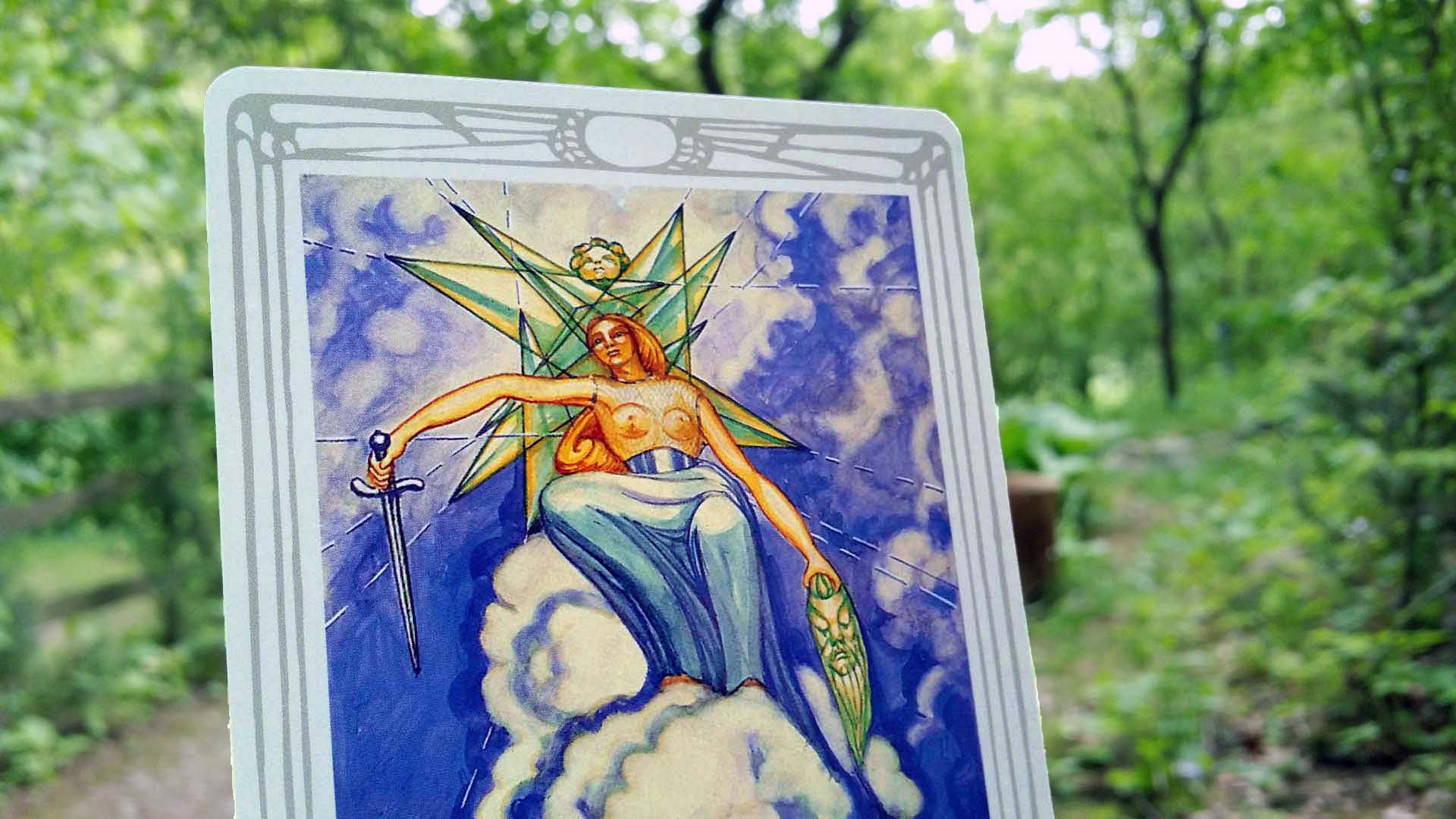 Thoth tarot card Queen of Swords