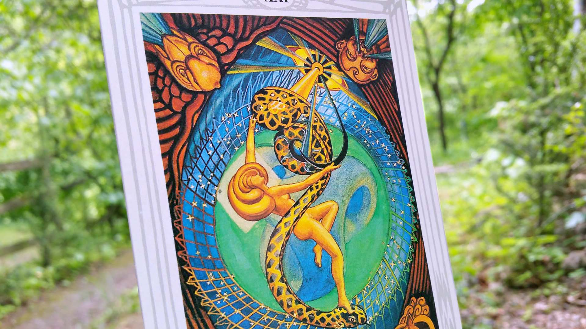 Thoth tarot card The Universe