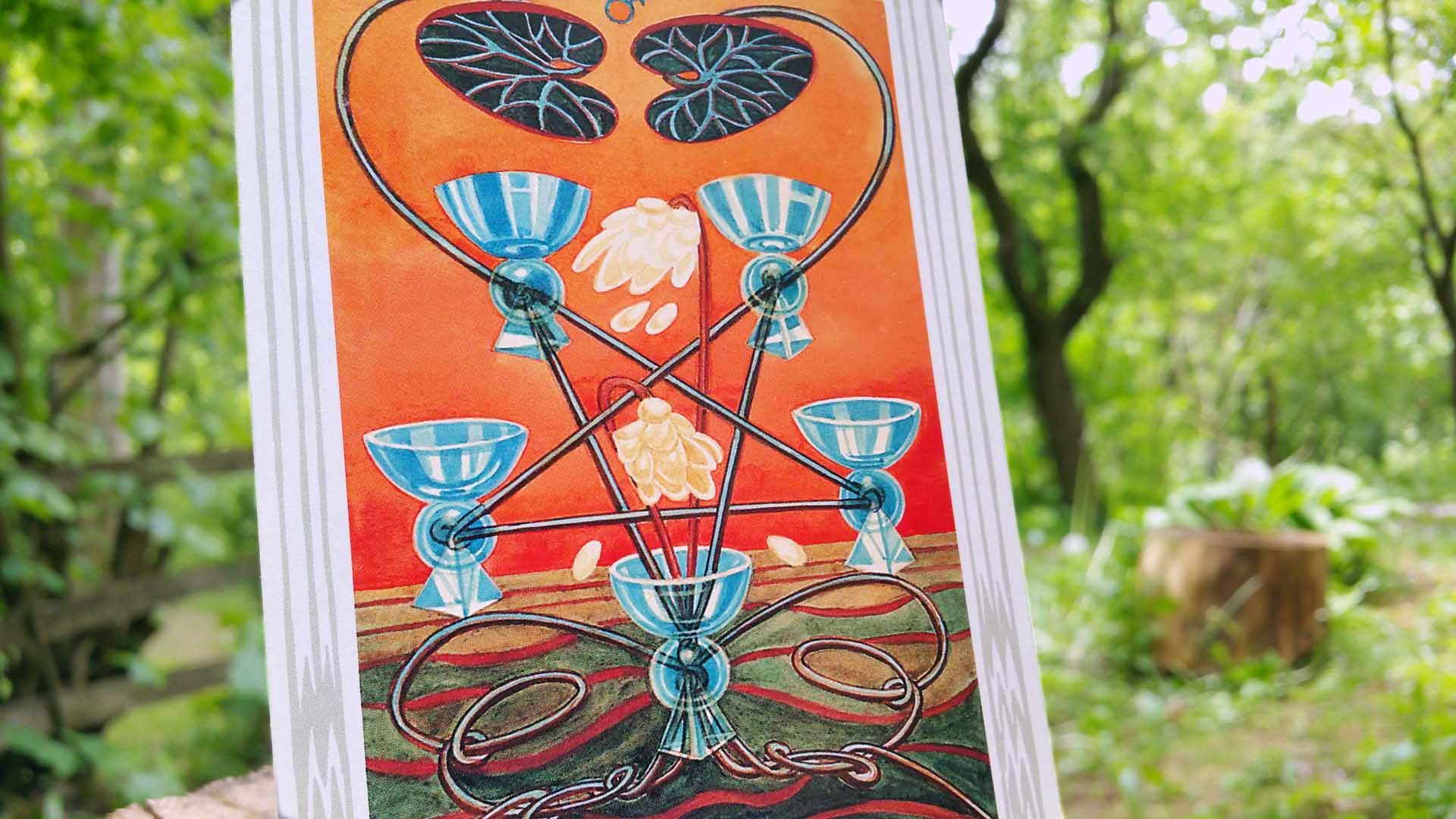 Thoth tarot card Five of Cups